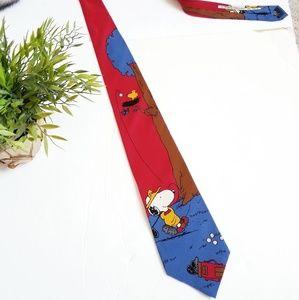 Vintage 1968 Peanuts Snoopy golf tie